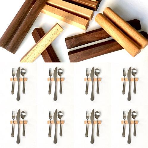 Set of 8 — 4 Inch Rounded Beech Hardwood Uplifts