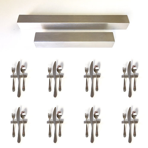 Set of 8 — 4 Inch Solid Stainless Steel Square Uplifts — Over 1/3 lbs. Each