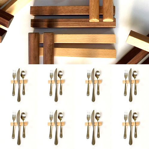 Set of 8 — 4 Inch Beech Hardwood Rectangle Uplifts