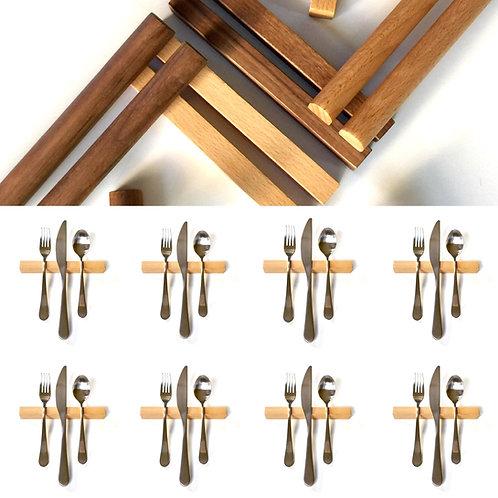 Set of 8 — 6 Inch Beech Hardwood Rectangle Uplifts