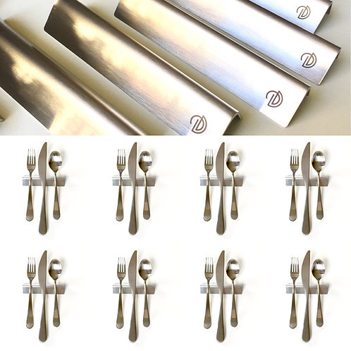 Set of 8 — 4 Inch Stainless Steel Triangle Uplifts — Heavy 16 Gauge