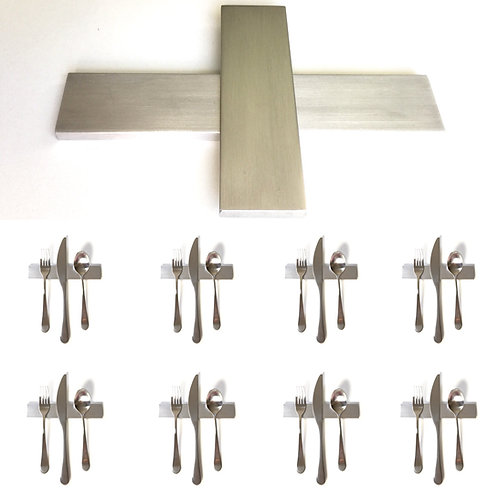 Set of 8 — 6 Inch Solid Stainless Steel Low Profile Uplifts — Over 1/2 lbs. Each