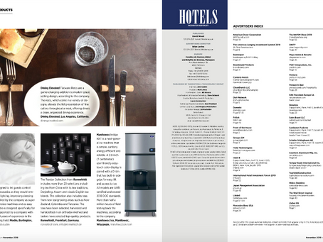 HOTELS Magazine Features Dining Elevated