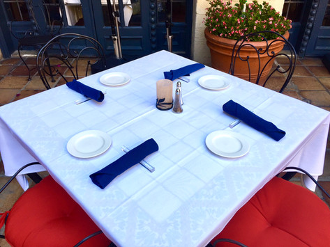 """Clear Acrylic 6"""" Square Flatware Rests"""