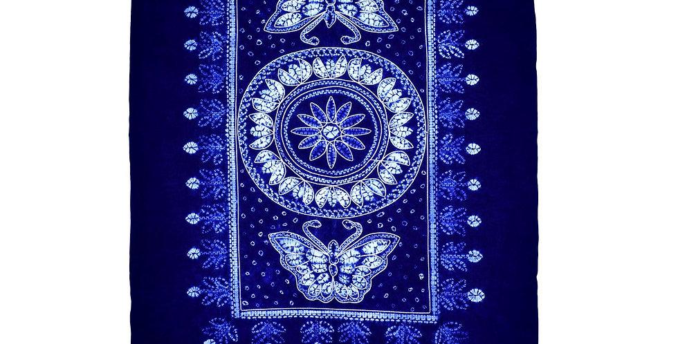Medium size indigo tie-dye fabric