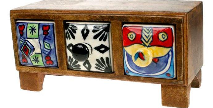 Ceramic drawer chest