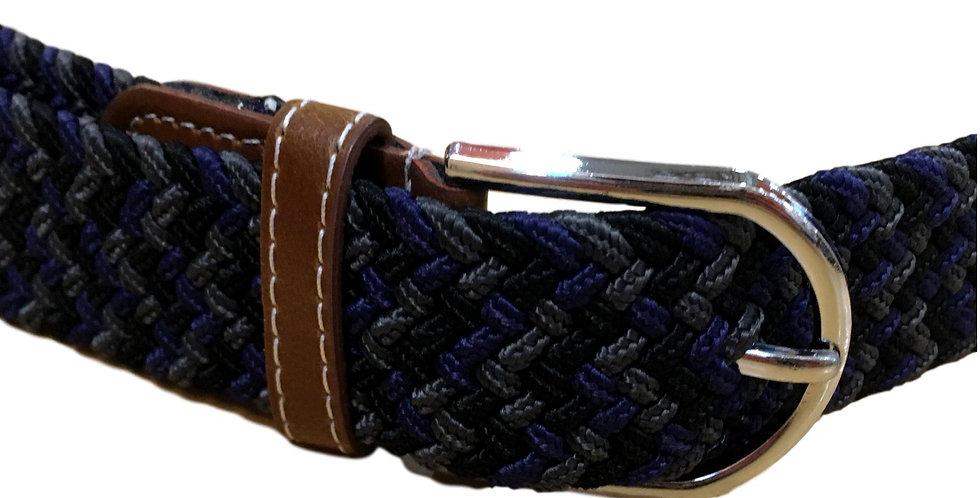 Stretchy belt in blue/dark grey/black