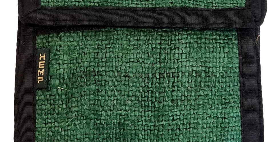 hemp wallet in green