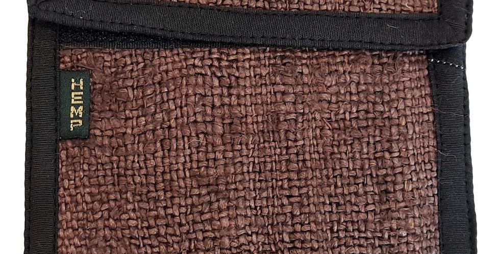 hemp wallet in brown
