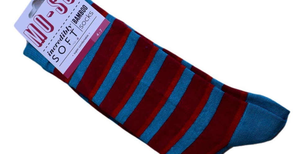blue red stripes