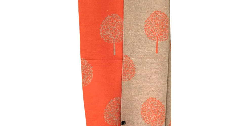 'tree of life' in soft orange and cream