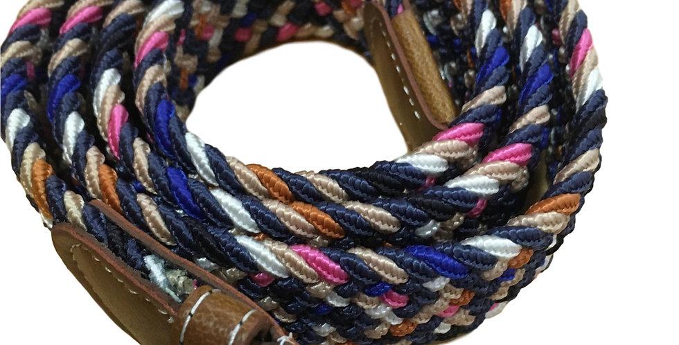 Stretchy belt in pink/blues/black