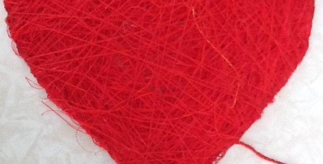 Linen Mobile Hearts