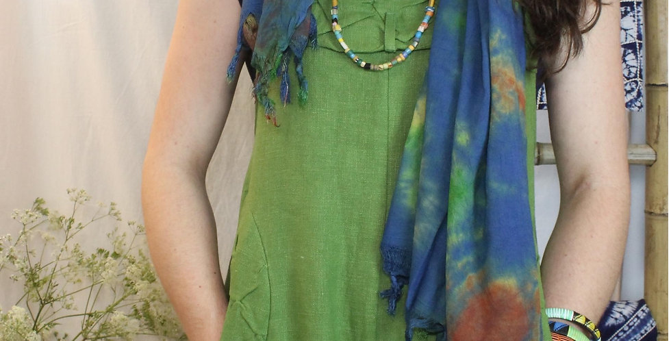 Petra Pinafore tunic in  nettle
