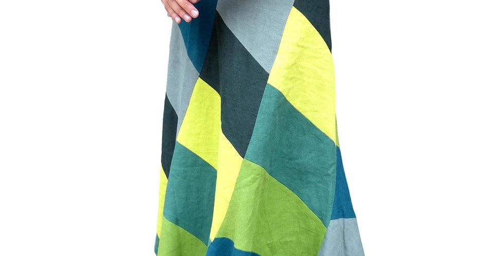 long skirt Susie in nettle