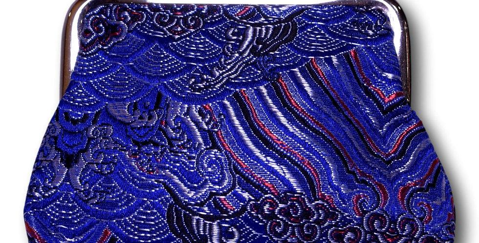 clip purse in midnight blue