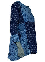 Indigo tunic, hand made