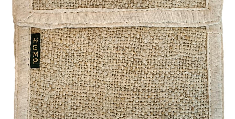 hemp wallet in plain natural