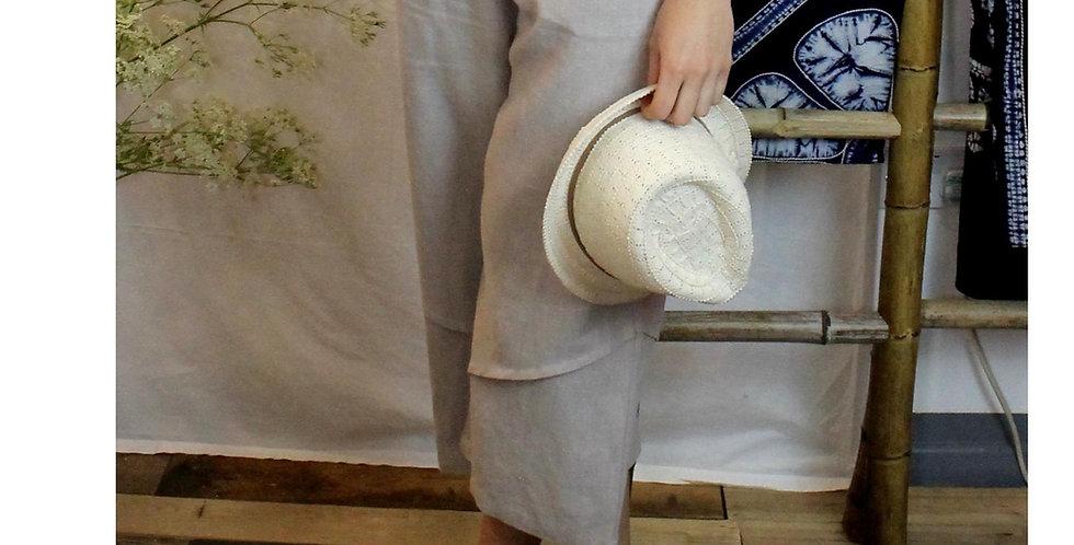 Cropped trouser in nettle