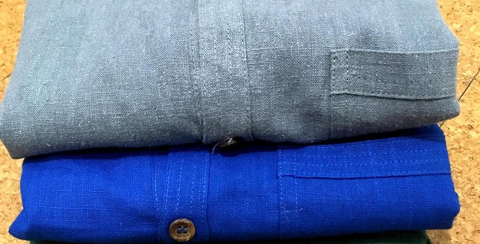 Full button shirt in nettle
