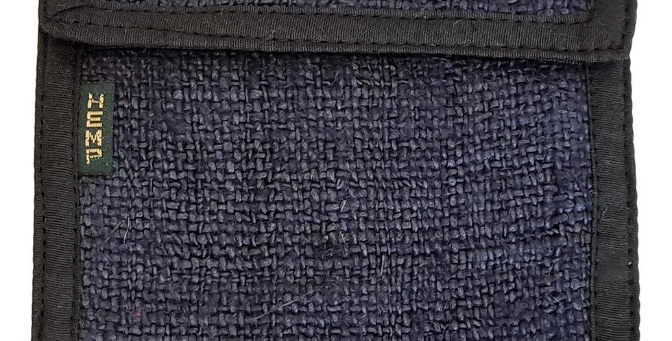 hemp wallet in charcoal