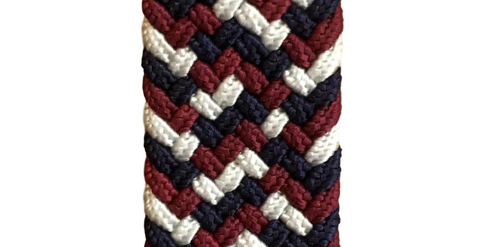 Stretchy belt in ruby/navy/cream
