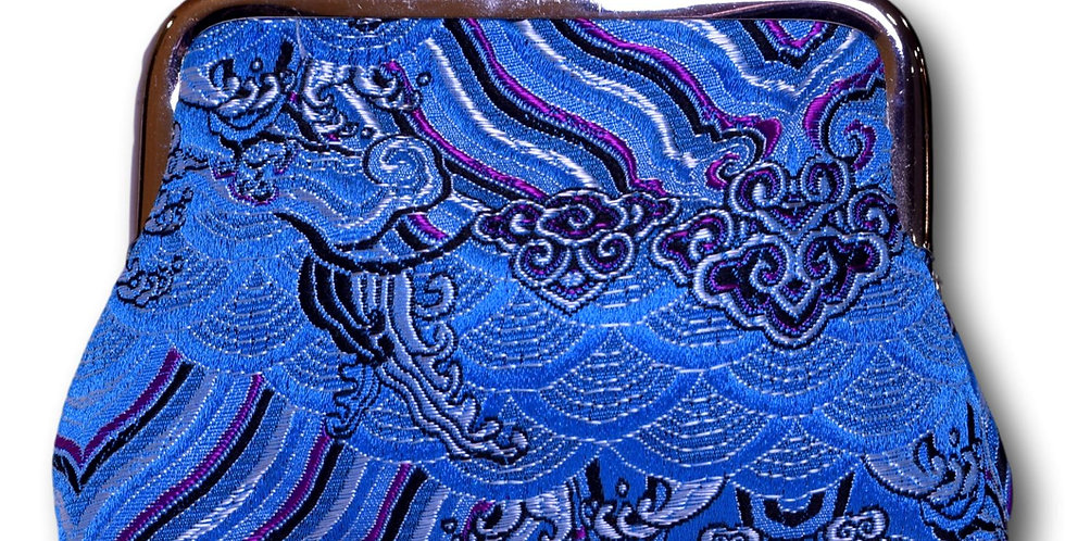 purse in bright blue