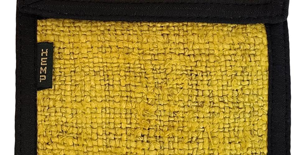 hemp wallet in mellow yellow