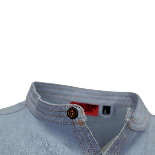Granddad shirt with stitch detail