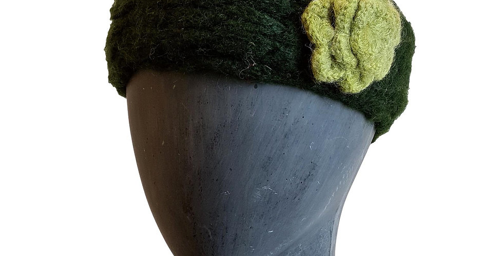 mohair in olive