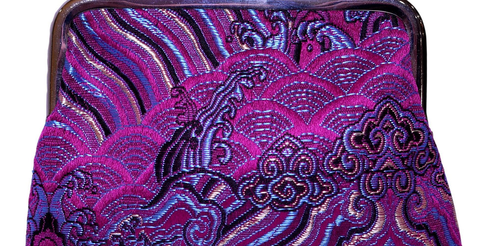 purse in magenta