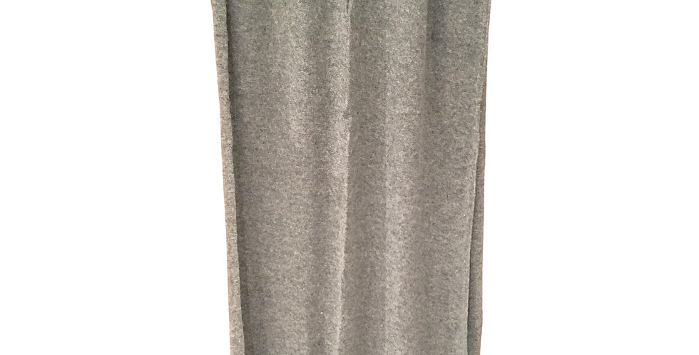 merino/cashmere scarf stole in light grey