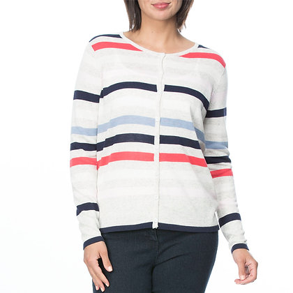 MULTI COLOUR STRIPE CARDI