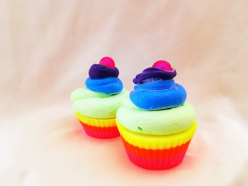 Unicorn Poo Cupcake goat's milk soap