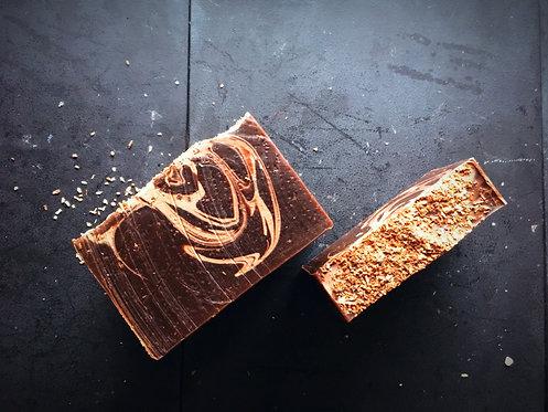 Truffle Chocolate goat's milk scrub bar