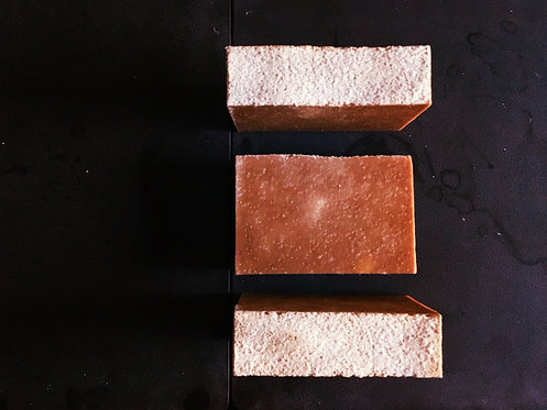 Salted Caramel Delight goat's milk scrub bar - 130g