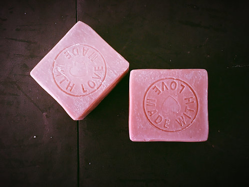 Baby Pink Clay face and body soap
