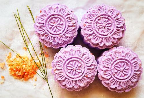 Purple Rose Himalayan Bath Salt Cake