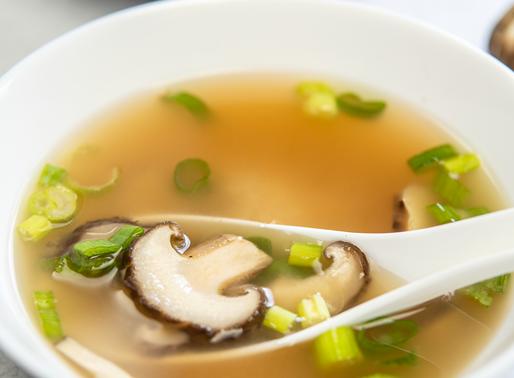 Miso Soup with Shiitake Mushrooms in just 5 ingredients! - VEGAN