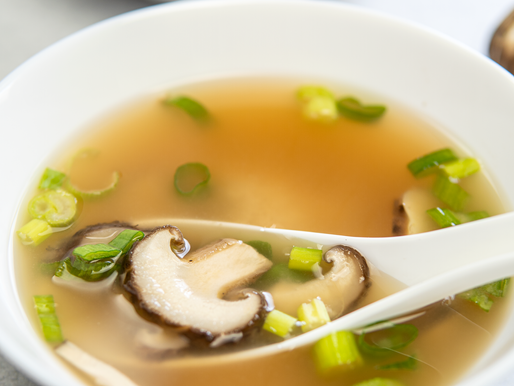 Miso Soup with Shiitake Mushrooms in just 5 ingredients! - VEGAN