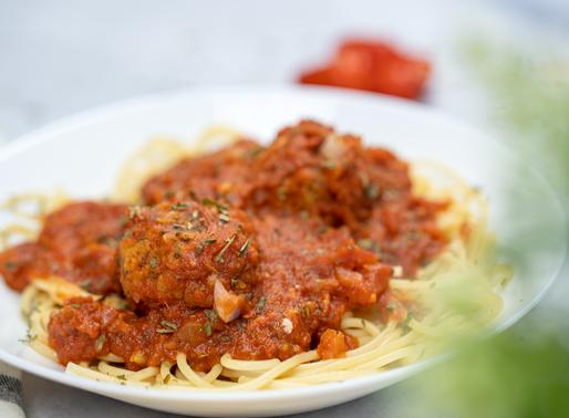 Vegan Spaghetti & Meatballs - Oil free