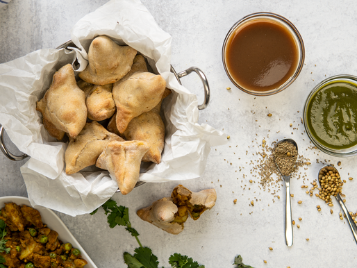 NO FRY Samosas - Oil free, GF, Vegan