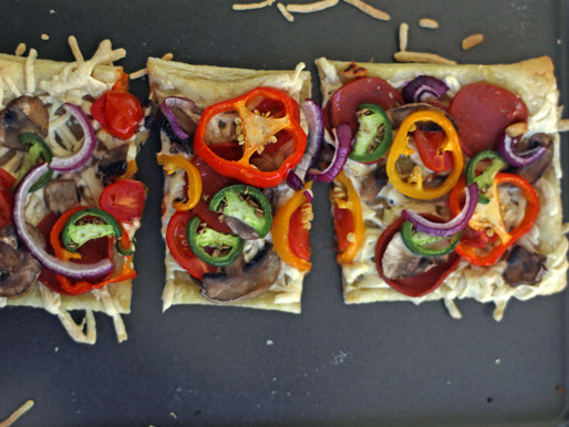 Vegan Pizza with Puff Pastry