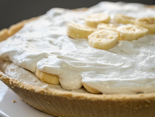 Vegan Banana Cream Pie | Gluten Free, No added oil, No added sugar