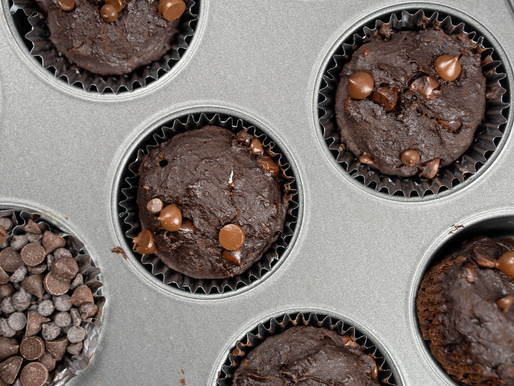 VEGAN Double Chocolate Chip Muffins | GF - No Added Oil - No Added Refined Sugar
