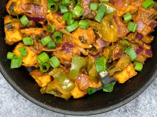 No Fry Manchurian Tofu (Dry) Vegan | Oil Free | Gluten Free