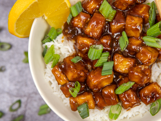 NO FRY Orange Tofu - GF | Oil Free | Vegan