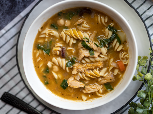 EASY Chickpea Noodle Soup | Vegan - Gluten Free - Oil Free