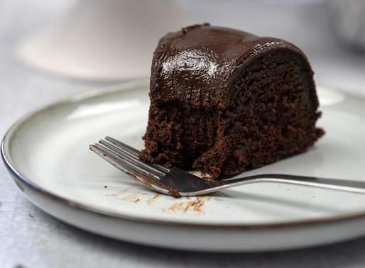 Vegan Chocolate Bundt Cake with Chocolate Ganache