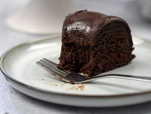 Vegan Chocolate Bundt Cake with Chocolate Ganache